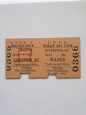 L, N, E, R,      Ticket,  (  Liverpool St  To  March, )