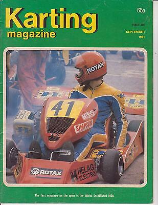 Karting Magazine September 1981 : see below for content listing: Rare !