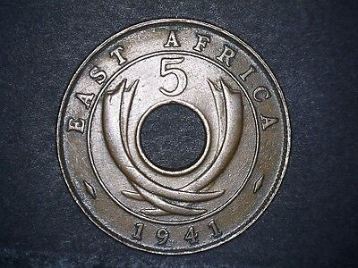 East Africa, 5 Cents, 1941, King George Vi
