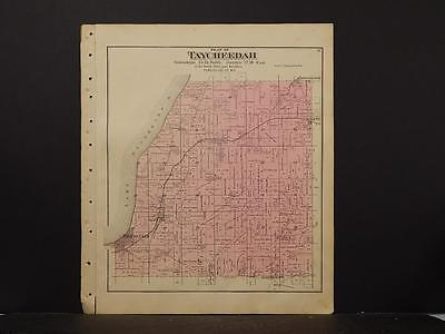 Wisconsin, Fond Du Lac County Map, Calumet Township, 1893 Double Sided J4#56