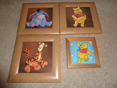 Winnie the Pooh, Tigger, Eeyore picture - wood frame