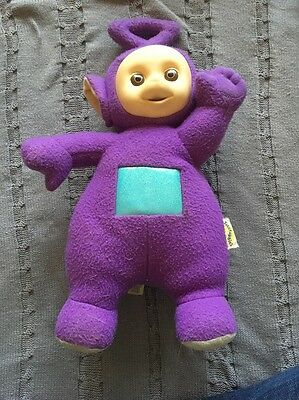 "Playskool Teletubbies Tinky Winky Plush Doll 16"" Talking 1998 Soft & Clean"