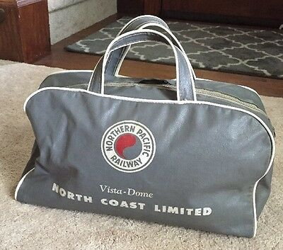 Northern Pacific Railway North Coast Limited Vintage Gray Promotional Bag