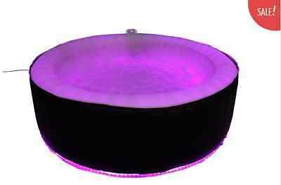 AQUASPAS LED In/Outdoor FULL SIZE 6-8  SEATER INFLATABLE PORTABLE SPA-HOT TUB