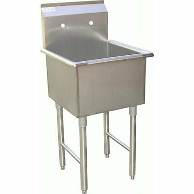 "ACE 1 Compartment Stainless Steel Commercial Food Preparation Sink 18""W x ...NEW"