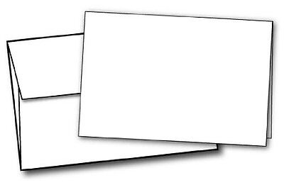 "80lb White Half Fold Greeting Cards & Envelopes - Paper Measures (11"" ...NEW"