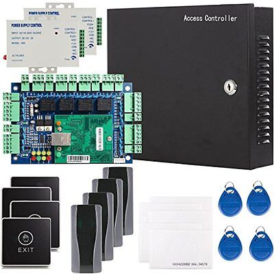 Generic 4 Door Security Network RFID Access Control Board Kit Metal AC 110...NEW