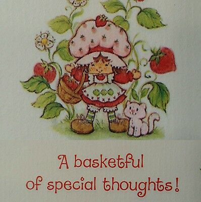 VINTAGE Strawberry Shortcake STATIONARY 26 Ct Sheets AMERICAN GREETINGS - VGC