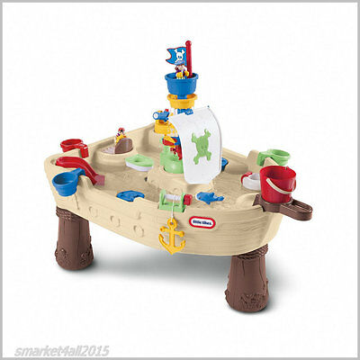 Childrens Water Table Play Set Kids Pirate Ship Playtable Fun Toy Figure Outdoor
