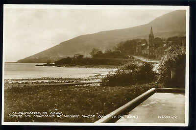 RP Postcard - at Newcastle, County Down.