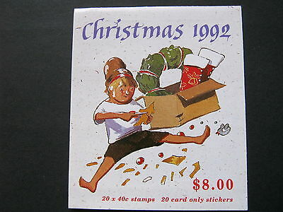 Australia  $8 Booklet Sb79  1992 Christmas  Complete In Ex. Condition