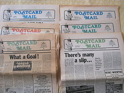 POSTCARD MAIL 1979  NUMBERS 3, 5 - 9 (6 papers)  REASONABLE CONDITION