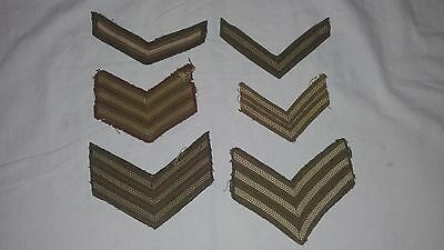 WW2 WWII Canadian British Assorted Chevrons Rank Insignia