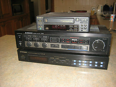 Pioneer stereo Amplifier, Tuner and Sony compact CD player