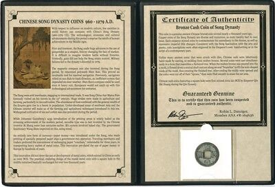 1 - Chinese Lucky Coin in Album with COA - Song Dynasty - 960 AD - 1279 AD