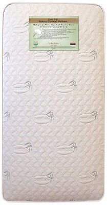 L.A. Baby Naturally Organic IV Triple Zone 2 in 1 Crib Mattress with Natur...NEW