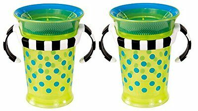 Sassy Grow Up Cup , Blue/Green, 7 Ounce, 2-Count...NEW