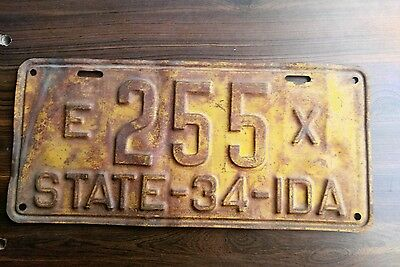 1934 Idaho exempt state license plate