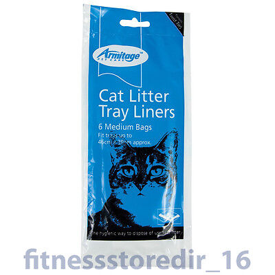 Armitage Cat Litter Medium Tray 46x38cm Liners 6-Pack Hygienic Pet Disposal Bag