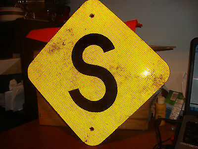 """Genuine Metal Railroad Speed Sign [used along track for speed reduction] 12""""X12"""""""