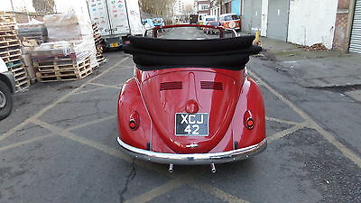 VW beetle karmann convertible 1960 right hand drive