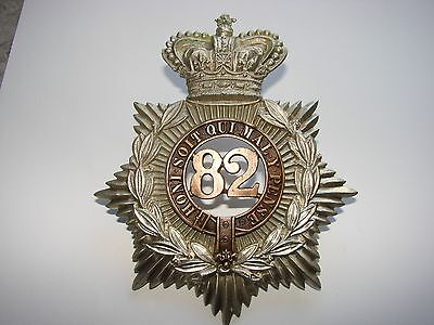 Canadian Helmet Plate Badge 82nd The Queen's County Battalion of Infantry c.1876