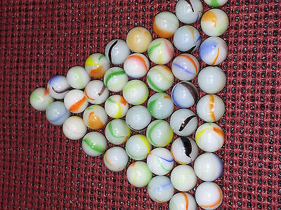 Antique Marble Lot Vintage Glass Marbles Swirl Marbles