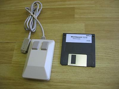 AMIGA Mouse in Good Used Condition, with FREE Workbench 1.3.3 Disk to Test!