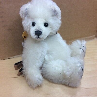 Charlie Bears Miniature Mohair Jointed Polar Bear Icicle L/e Now Retired