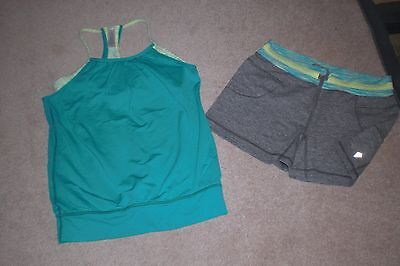 Lot of Girls Ivivva by Lululemon Shorts and Tank Top sz 14