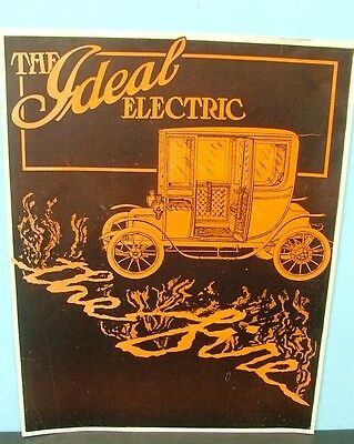 Three Very Early Magazine Auto Advertisements Ideal & Baker Electric + +