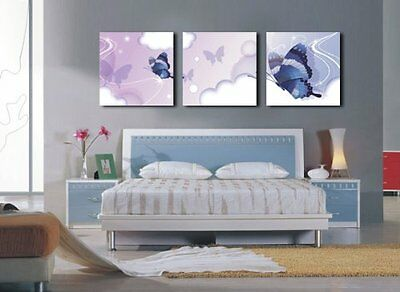 HUGE MODERN ABSTRACT WALL DECOR ART CANVAS PAINTING (No Frame)AAAA with Bl...NEW