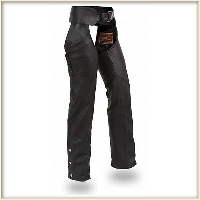 First Manufacturing Ladies Hipset Leather Chaps FIL704CFD