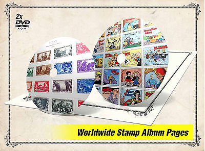 ULTIMATE PRINTABLE WORLD STAMP ALBUM PAGES DVDs (39.000+ color illustrated pgs)