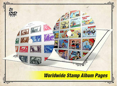 ULTIMATE WORLD STAMP ALBUM PAGES LIBRARY DVDs (39.000+ color illustrated pages)