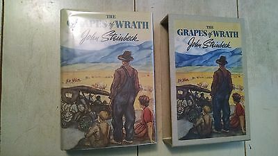 John Steinbeck THE GRAPES OF WRATH 1939 HC DJ First Edition Library FEL