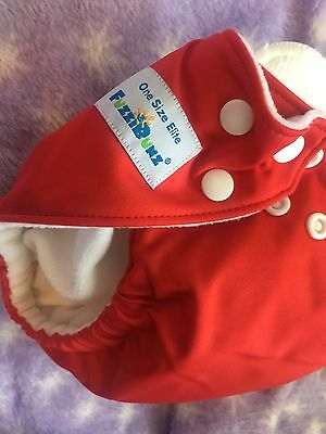 Brand New fuzzibunz one size Red With 2 Inserts NWT Baby Cloth Diaper