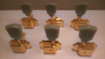 Gold Finish 3L3R Tulip Machine Tuning Heads,for Vintage Les / P Style Guitar
