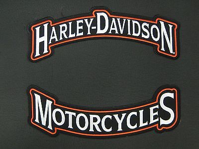 Harley Davidson Motorcycles Large Patch 12""