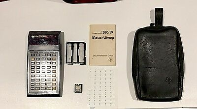 Vintage Texas Instruments Ti 58C Programmable Calculator W Master Library Module