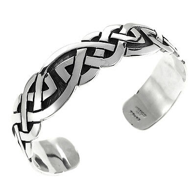 TAXCO 925 SILVER CELTIC CUFF BRACELET-Mexico Sterling Silver