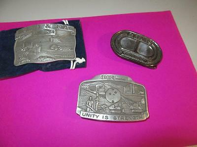 3  Belt Buckles  Mining Related   Lot 41