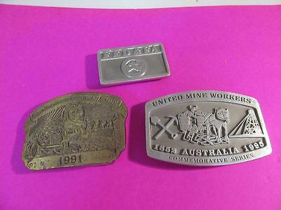 3  Belt Buckles  Mining Related   Lot 42