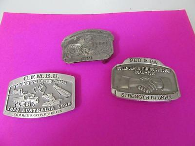 3  Belt Buckles  Mining Related   Lot 43