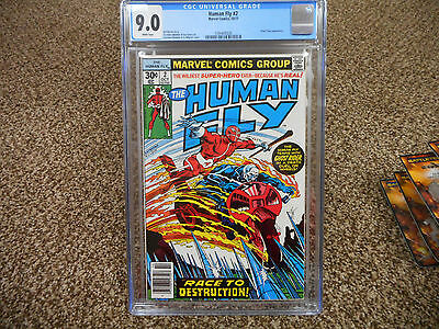 Human Fly 2 cgc 9.0 GHOST RIDER cover great comic looks perfect 1977 Marvel TV