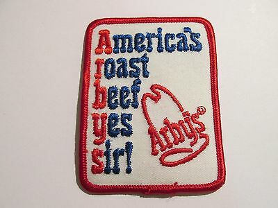 Vintage Arbys Embroidered Advertising iron on Patch