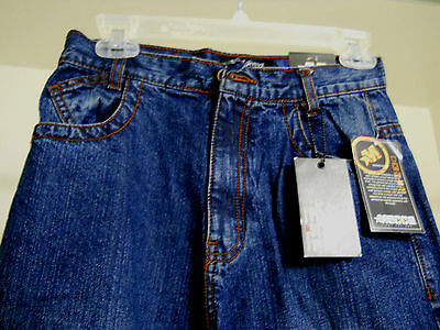Mecca Apparel Boys/Girls 14 Blue Demin Jean 3 Front and 2 Back Buttoned Pockets