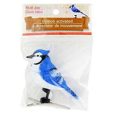 New Motion Sensor Sensing Realistic Chirping Bird Clips On  ~ Blue Jay