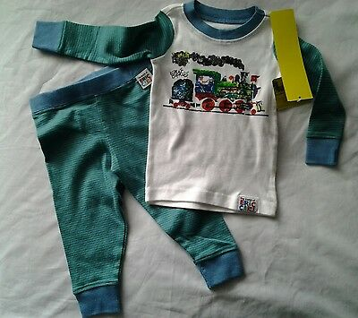 New With Tags Eric Carle Boys 18 Months Pajama's Zoo Train