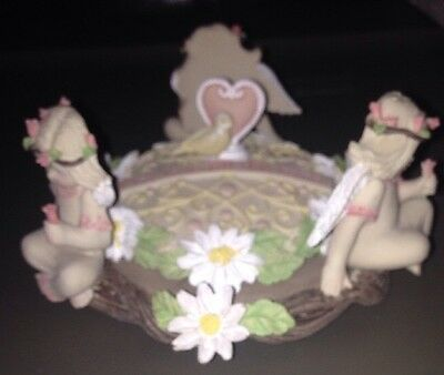 New In Box Little Blessings By Kathleen Morris Guardian Angel Candle Holder